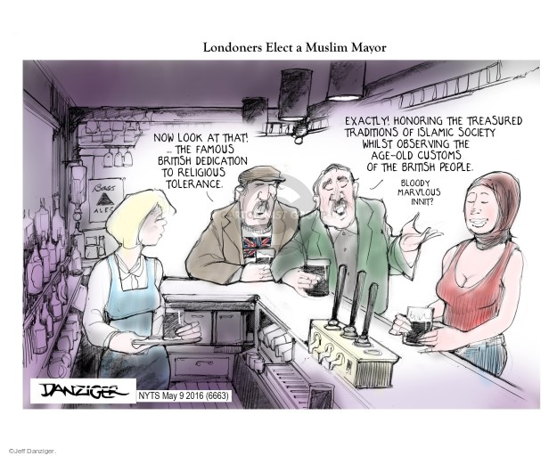 Cartoonist Jeff Danziger  Jeff Danziger's Editorial Cartoons 2016-05-09 religion
