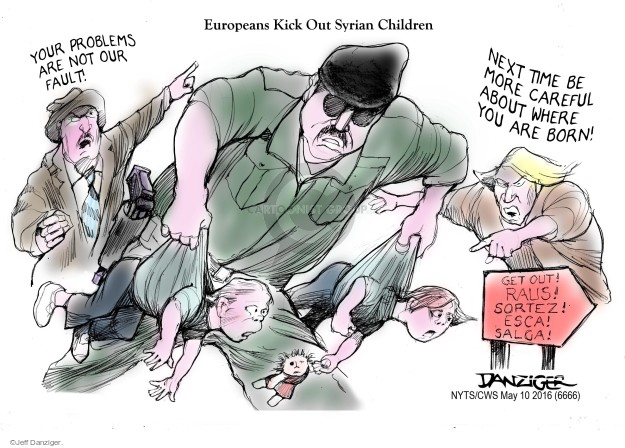 Jeff Danziger  Jeff Danziger's Editorial Cartoons 2016-05-10 Europe immigration