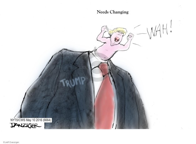 Cartoonist Jeff Danziger  Jeff Danziger's Editorial Cartoons 2016-05-10 change