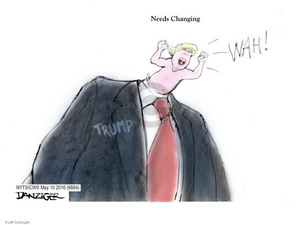 Cartoonist Jeff Danziger  Jeff Danziger's Editorial Cartoons 2016-05-10 baby