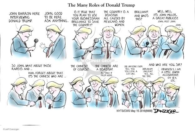 Cartoonist Jeff Danziger  Jeff Danziger's Editorial Cartoons 2016-05-15 accounting
