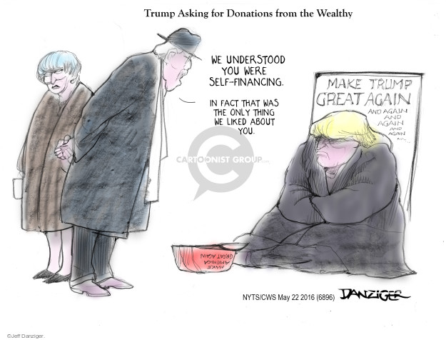 Cartoonist Jeff Danziger  Jeff Danziger's Editorial Cartoons 2016-05-22 finance