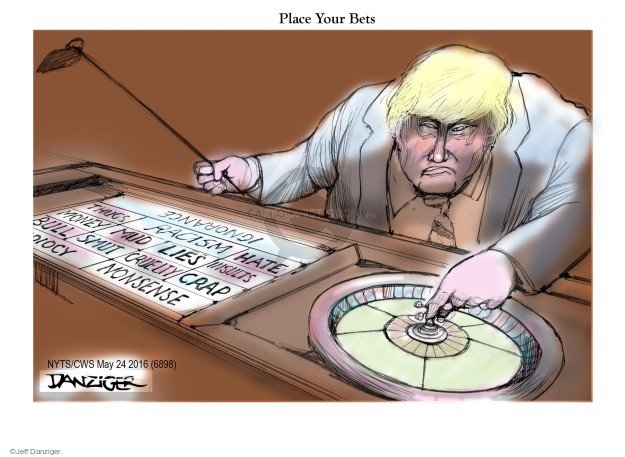 Cartoonist Jeff Danziger  Jeff Danziger's Editorial Cartoons 2016-05-24 nonsense