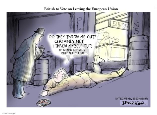 Cartoonist Jeff Danziger  Jeff Danziger's Editorial Cartoons 2016-05-25 England