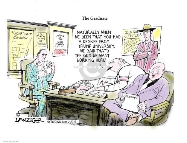 Cartoonist Jeff Danziger  Jeff Danziger's Editorial Cartoons 2016-06-02 real