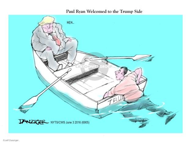 Cartoonist Jeff Danziger  Jeff Danziger's Editorial Cartoons 2016-06-03 Ryan