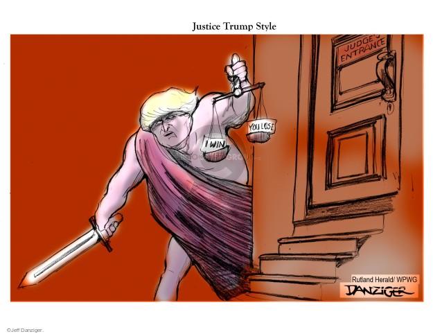 Cartoonist Jeff Danziger  Jeff Danziger's Editorial Cartoons 2016-06-07 judicial branch