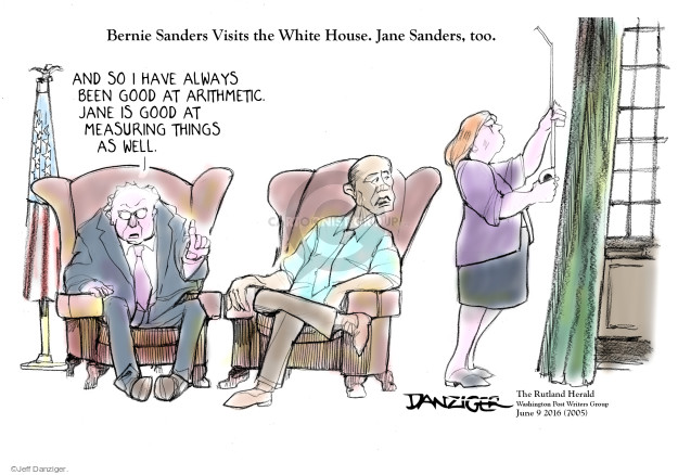 Jeff Danziger  Jeff Danziger's Editorial Cartoons 2016-06-09 Bernie Sanders