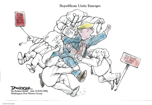 Cartoonist Jeff Danziger  Jeff Danziger's Editorial Cartoons 2016-06-14 suck