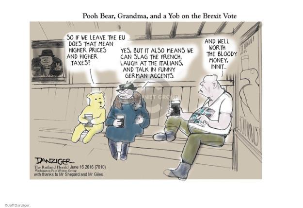 Cartoonist Jeff Danziger  Jeff Danziger's Editorial Cartoons 2016-06-16 means