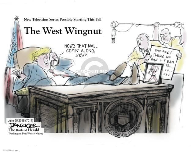 Cartoonist Jeff Danziger  Jeff Danziger's Editorial Cartoons 2016-06-20 Oval Office