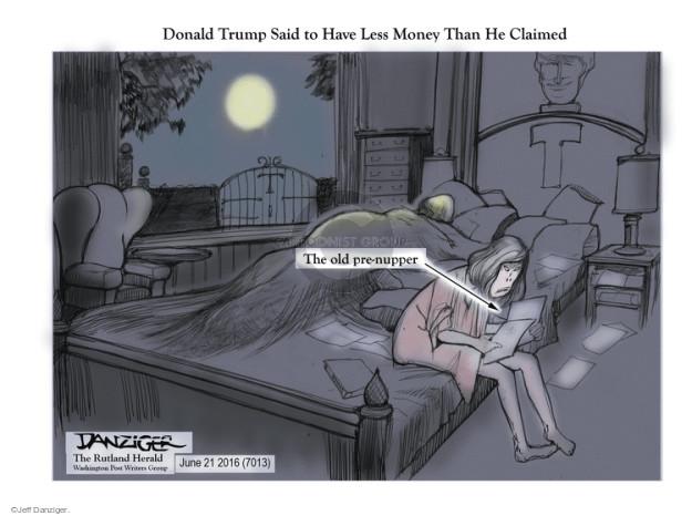 Jeff Danziger  Jeff Danziger's Editorial Cartoons 2016-06-21 personal finance