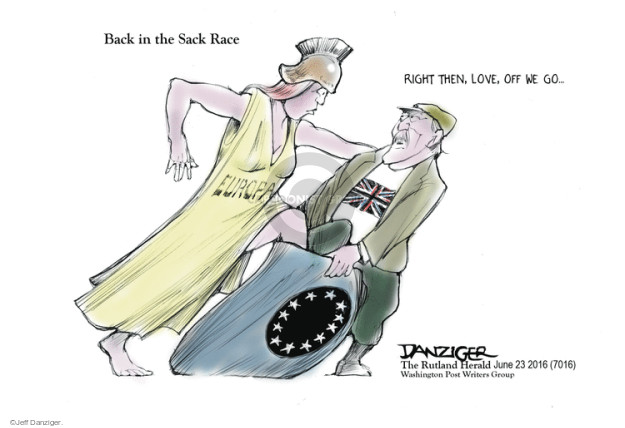 Cartoonist Jeff Danziger  Jeff Danziger's Editorial Cartoons 2016-06-23 race