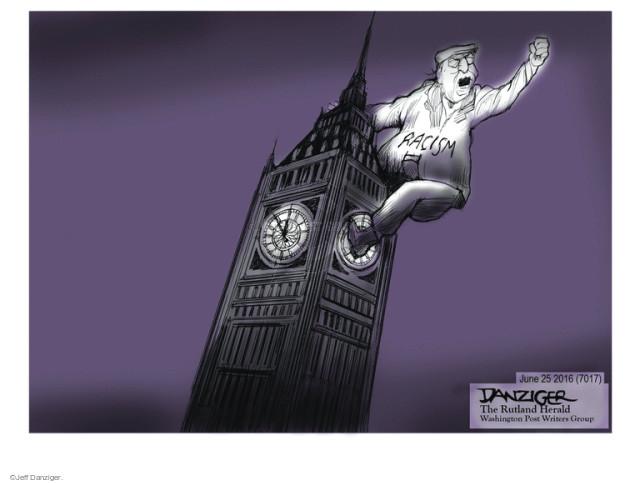 Jeff Danziger  Jeff Danziger's Editorial Cartoons 2016-06-25 racism