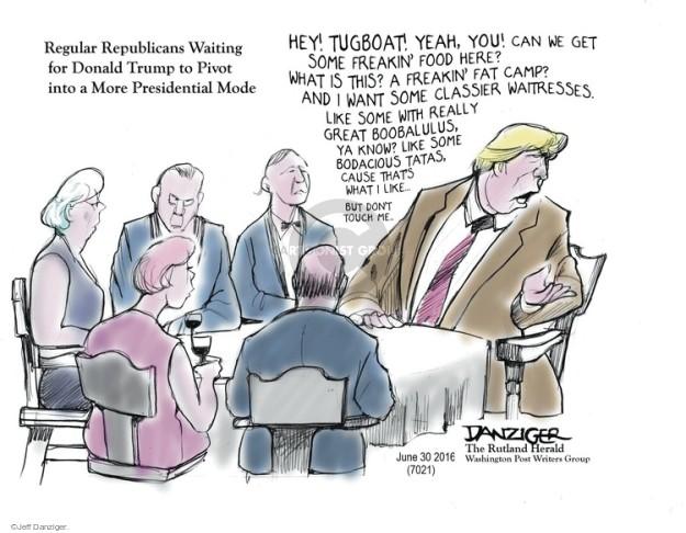 Cartoonist Jeff Danziger  Jeff Danziger's Editorial Cartoons 2016-06-30 candidates republicans