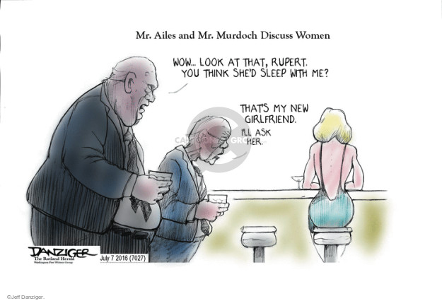 Cartoonist Jeff Danziger  Jeff Danziger's Editorial Cartoons 2016-07-07 bias