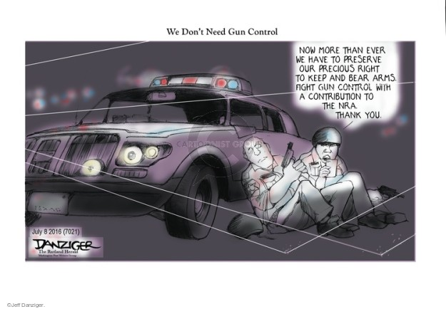 Cartoonist Jeff Danziger  Jeff Danziger's Editorial Cartoons 2016-07-08 police