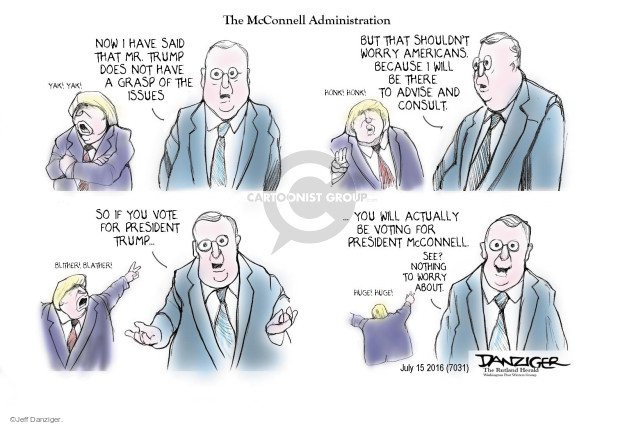 Jeff Danziger  Jeff Danziger's Editorial Cartoons 2016-07-15 Mitch McConnell