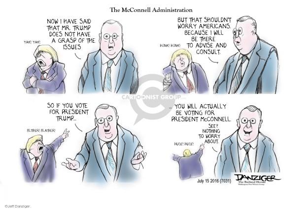 Cartoonist Jeff Danziger  Jeff Danziger's Editorial Cartoons 2016-07-15 partisanship
