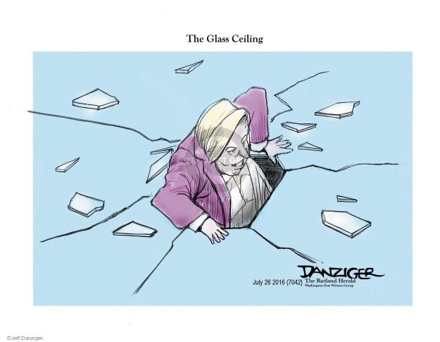 Cartoonist Jeff Danziger  Jeff Danziger's Editorial Cartoons 2016-07-28 equal rights
