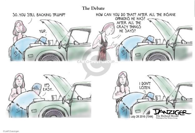 Cartoonist Jeff Danziger  Jeff Danziger's Editorial Cartoons 2016-07-29 don't