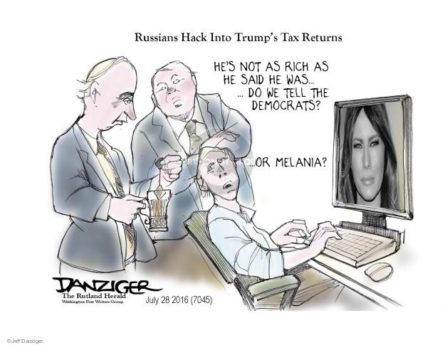 Cartoonist Jeff Danziger  Jeff Danziger's Editorial Cartoons 2016-07-29 rich