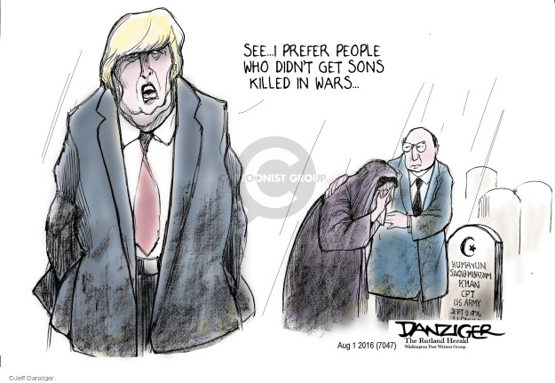 Cartoonist Jeff Danziger  Jeff Danziger's Editorial Cartoons 2016-08-02 religion