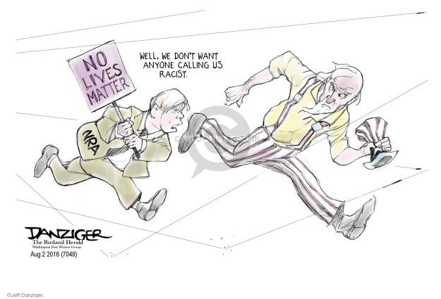Cartoonist Jeff Danziger  Jeff Danziger's Editorial Cartoons 2016-08-04 gun control