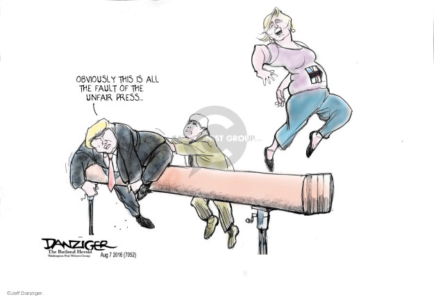 Cartoonist Jeff Danziger  Jeff Danziger's Editorial Cartoons 2016-08-07 press secretary