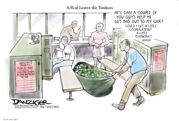 Cartoonist Jeff Danziger  Jeff Danziger's Editorial Cartoons 2016-08-08 retirement