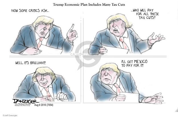 Cartoonist Jeff Danziger  Jeff Danziger's Editorial Cartoons 2016-08-09 tax payment