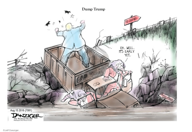 Cartoonist Jeff Danziger  Jeff Danziger's Editorial Cartoons 2016-08-16 republican