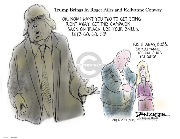 Jeff Danziger  Jeff Danziger's Editorial Cartoons 2016-08-19 Roger