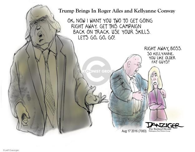 Cartoonist Jeff Danziger  Jeff Danziger's Editorial Cartoons 2016-08-19 female