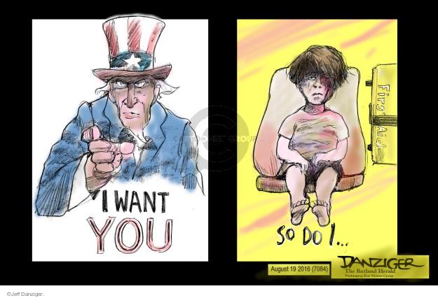 Jeff Danziger  Jeff Danziger's Editorial Cartoons 2016-08-20 Uncle Sam