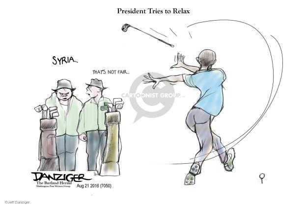 Cartoonist Jeff Danziger  Jeff Danziger's Editorial Cartoons 2016-08-21 Barack Obama