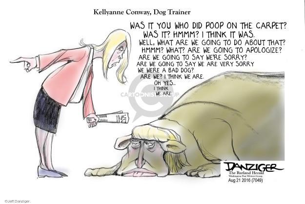 Jeff Danziger  Jeff Danziger's Editorial Cartoons 2016-08-22 integrity