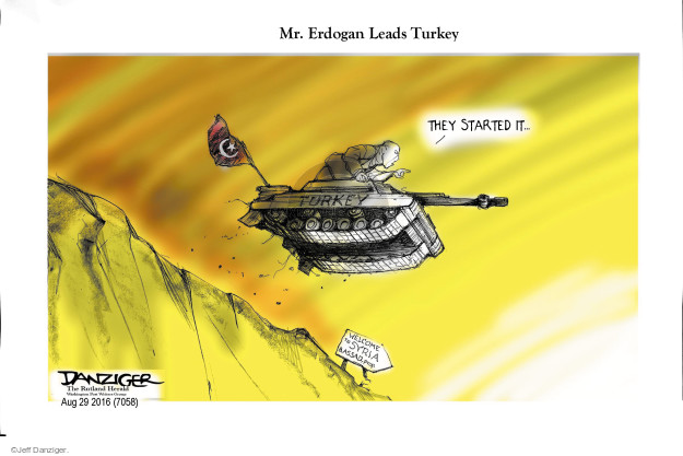 Cartoonist Jeff Danziger  Jeff Danziger's Editorial Cartoons 2016-08-29 al-Assad