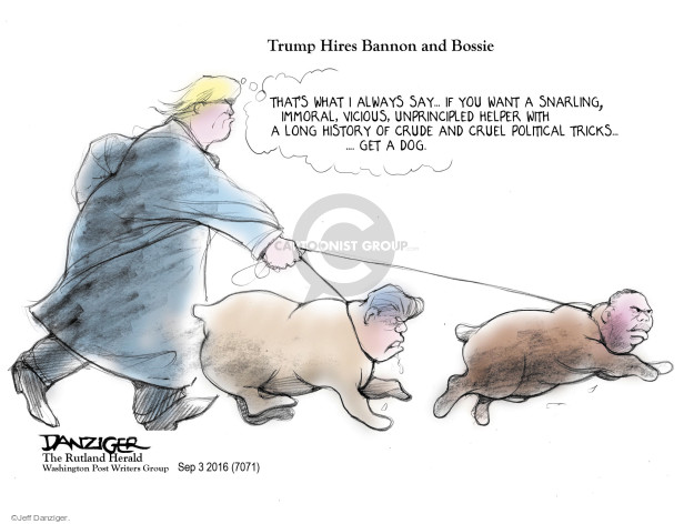 Cartoonist Jeff Danziger  Jeff Danziger's Editorial Cartoons 2016-09-05 David