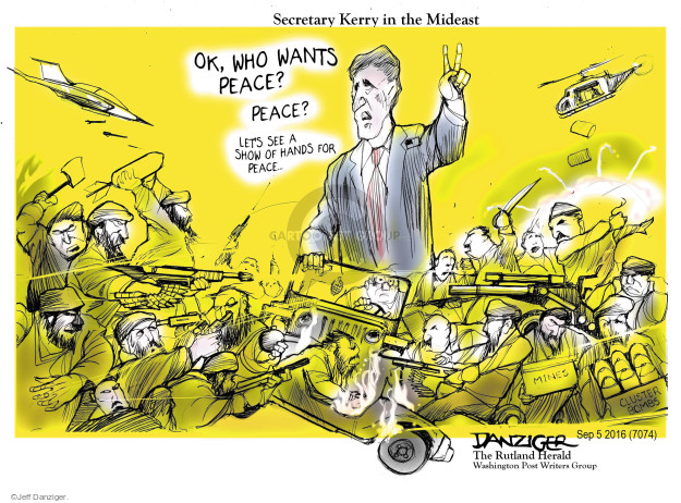 Cartoonist Jeff Danziger  Jeff Danziger's Editorial Cartoons 2016-09-06 bomb