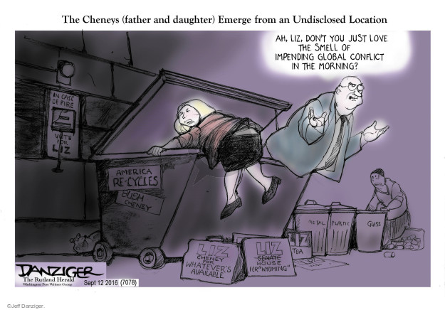 Cartoonist Jeff Danziger  Jeff Danziger's Editorial Cartoons 2016-09-12 garbage