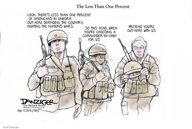 Cartoonist Jeff Danziger  Jeff Danziger's Editorial Cartoons 2016-09-15 consideration
