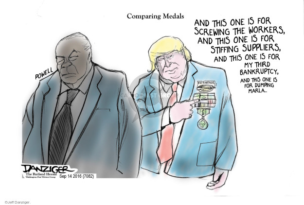 Cartoonist Jeff Danziger  Jeff Danziger's Editorial Cartoons 2016-09-16 avenue