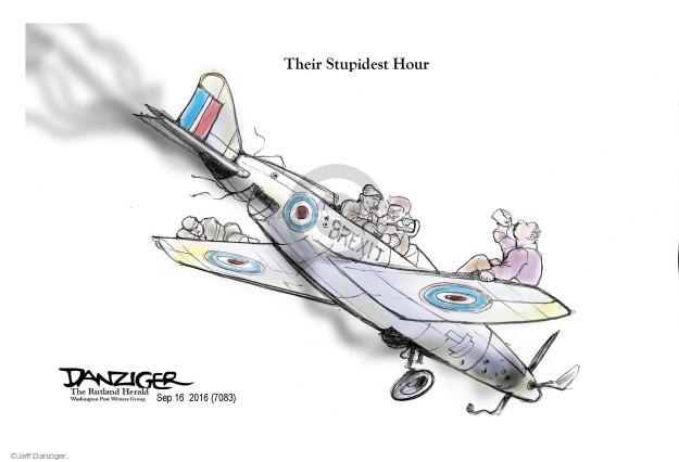 Cartoonist Jeff Danziger  Jeff Danziger's Editorial Cartoons 2016-09-17 England