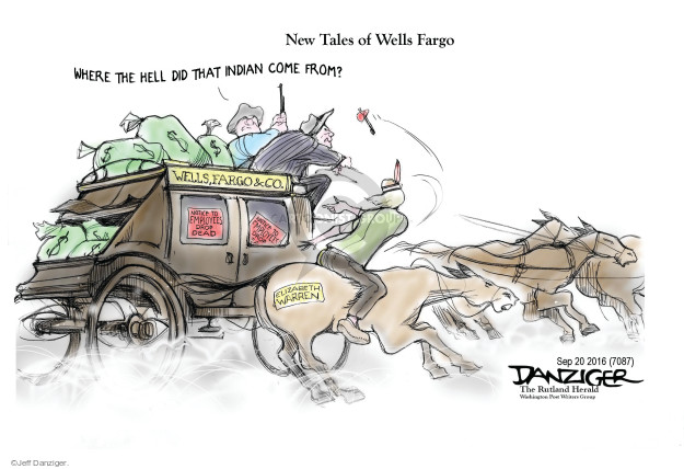 Cartoonist Jeff Danziger  Jeff Danziger's Editorial Cartoons 2016-09-21 finance