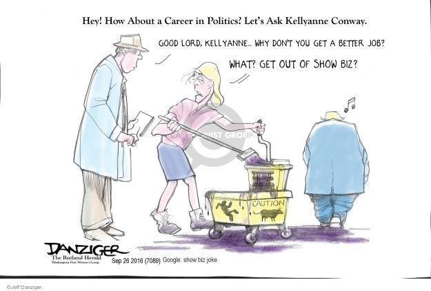 Cartoonist Jeff Danziger  Jeff Danziger's Editorial Cartoons 2016-09-27 candidacy