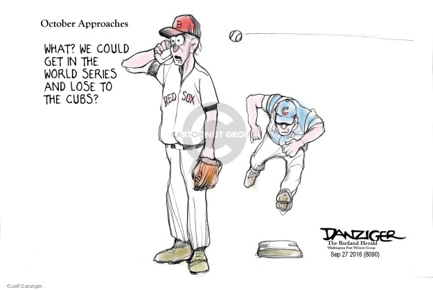 Cartoonist Jeff Danziger  Jeff Danziger's Editorial Cartoons 2016-09-28 championship