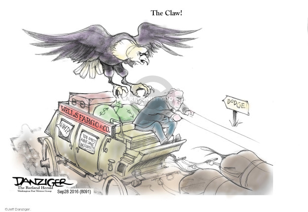 Cartoonist Jeff Danziger  Jeff Danziger's Editorial Cartoons 2016-09-29 finance