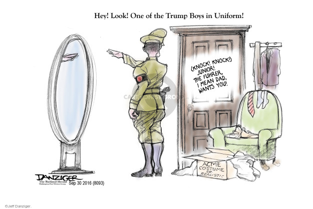 Cartoonist Jeff Danziger  Jeff Danziger's Editorial Cartoons 2016-10-01 candidacy