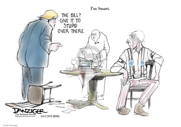Cartoonist Jeff Danziger  Jeff Danziger's Editorial Cartoons 2016-10-03 stupid
